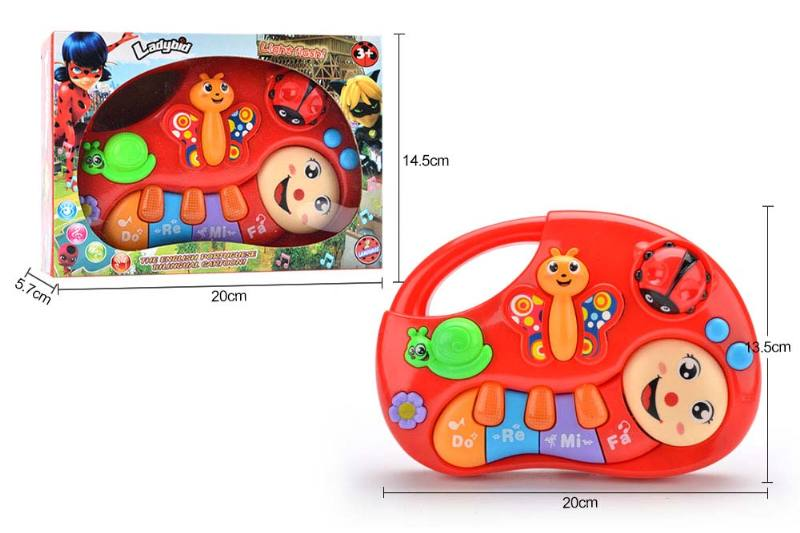 Musical instrument toys English and Portuguese bilingual keyboard ladybug No.TA246984