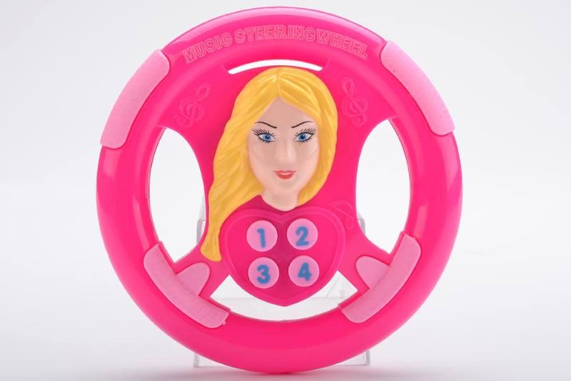 Music steering wheel toy Barbie steering wheel No.TA238942