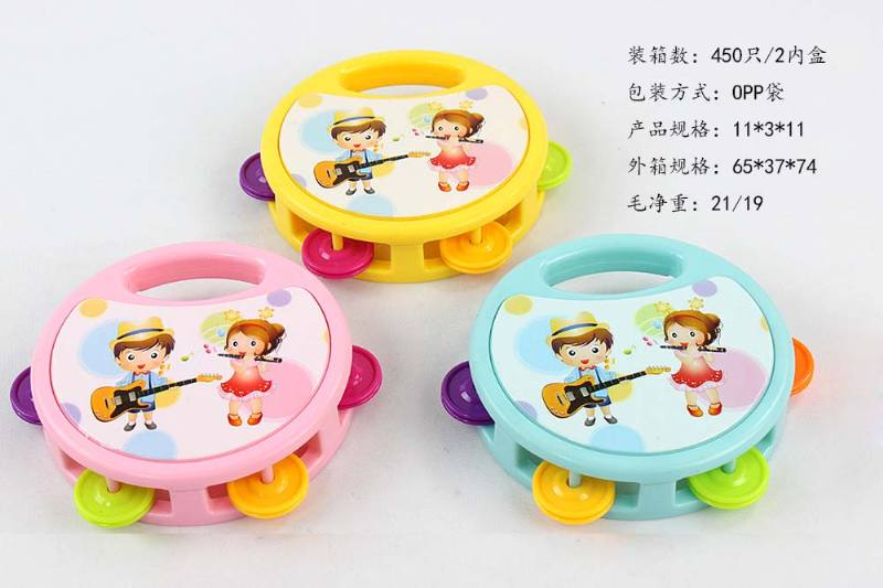 Musical instrument toys Small Bell Drum Boys & Girls Factory Edition No.TA246694
