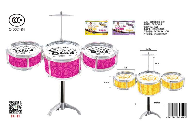 Musical instrument toy laser kit drum No.TA246798