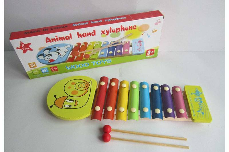 Musical instrument toy snail 8-tone wooden xylophone No.TA238369