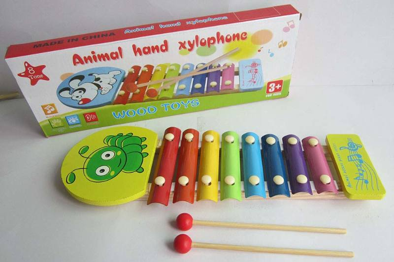 Musical instrument toys Greenworm 8-tone wooden xylophone No.TA238371