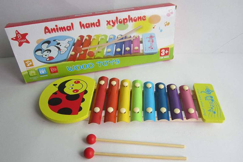 Musical instrument toys Seven insects 8 tone wooden xylophone No.TA238372