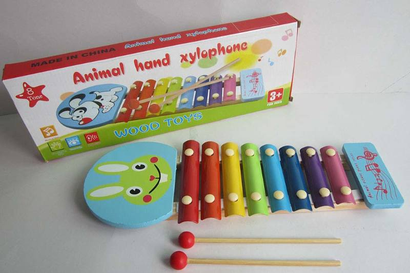 Musical Instrument Toys Rabbit 8-tone Wooden xylophone No.TA238374