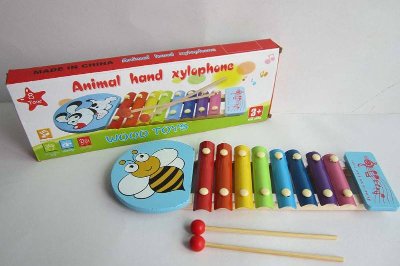 Musical musical toy bee 8 tone wooden xylophone No.TA238375
