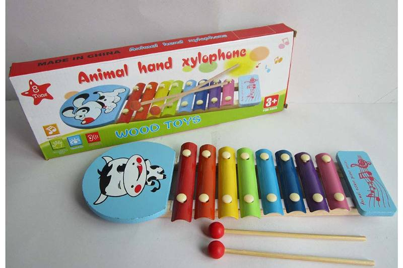 Musical musical toy cow 8 tone wooden xylophone No.TA238376