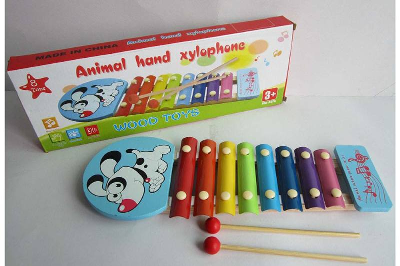 Musical Instrument Toy Puppy 8-tone wooden xylophone No.TA238377
