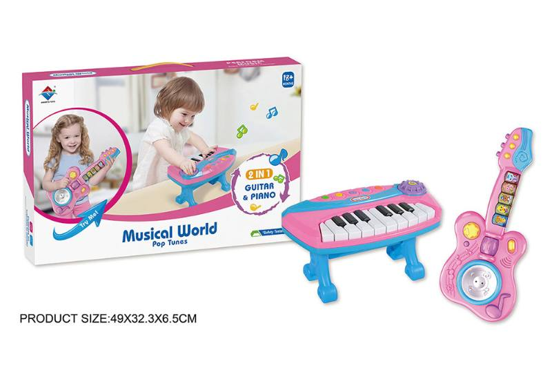 Musical Instrument Toy Set Electronic Guitar Organ Combination (With Bracket) No.TA228654
