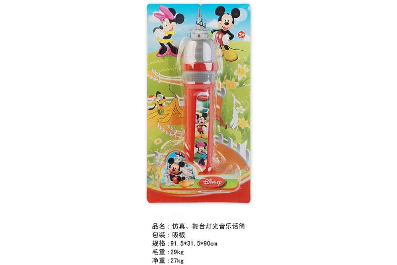 Simulation microphone toy Simulation, stage lighting music microphone (Mickey Mouse) No.TA249452