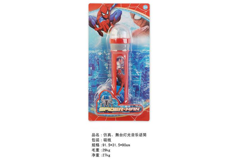 Simulation microphone toy Simulation, stage lighting music microphone (Spider-Man) No.TA249454